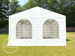 Gable End for 5m wide / 2.6m Side Height Marquees, with windows, white