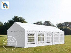 4x10m Marquee / Party Tent, PVC 500 g/m² fire resistant, white