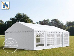 5x8m Marquee / Party Tent, PVC 500 g/m² fire resistant, white