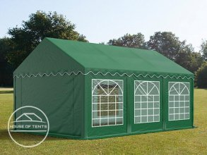 4x6m Marquee / Party Tent, PVC 500 g/m², dark green