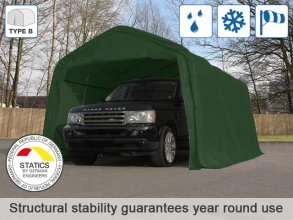 3.3x4.8m Carport Tent / Portable Garage, PVC 550 g/m², dark green