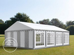 5x8m Marquee / Party Tent, PVC 500 g/m², grey-white
