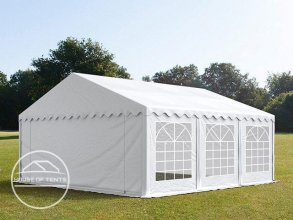 5x6m Marquee / Party Tent, PVC 500 g/m², white