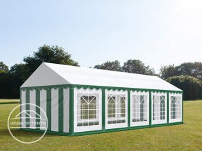 4x10m Marquee / Party Tent, PVC 500 g/m², green-white