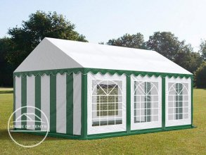 4x6m Marquee / Party Tent, PVC 500 g/m², green-white