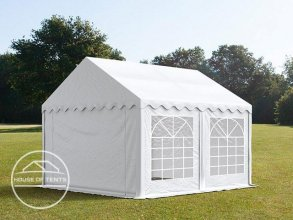 4x4m Marquee / Party Tent, PVC 500 g/m², white