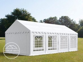 4x8m Marquee / Party Tent, PVC 500 g/m², white