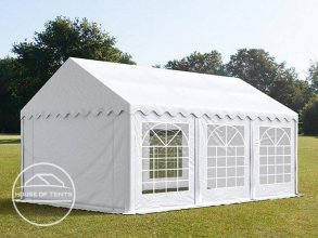 3x6m Marquee / Party Tent, PVC 500 g/m², white