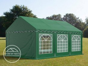 3x6m Marquee / Party Tent, PVC 500 g/m², dark green