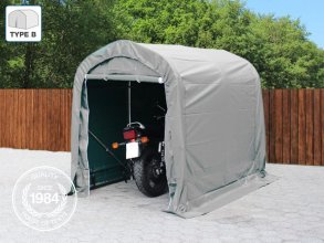 1.6x2.4m Carport Tent / Portable Garage, PVC 550 g/m², grey