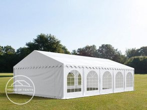 5x10m Marquee / Party Tent w. Groundbar, PVC 500 g/m², white