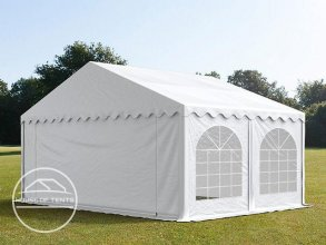 5x4m Marquee / Party Tent w. Groundbar, PVC 500 g/m², white