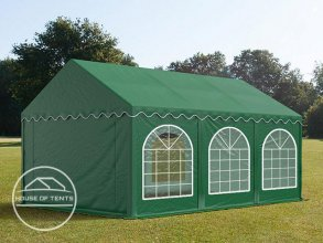 3x6m Marquee / Party Tent w. Groundbar, PVC 500 g/m², dark green
