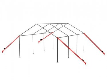 Storm Protection Kit with 4x10m Tension Belts + Pegs (for soft grounds)