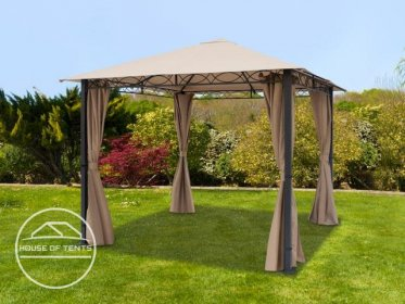Garden Gazebo Rendezvous Premium brown-grey, 3x3m