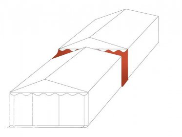 Connection Gutter / Rain Gutter for 4m wide Tents (2.6m Side Height), white