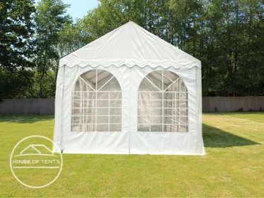 Gable End for 4m wide / 2.6m Side Height Marquees, with windows, white