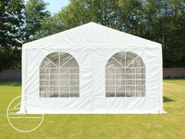 Gable End for 5m wide / 2m Side Height Marquees, with windows, white