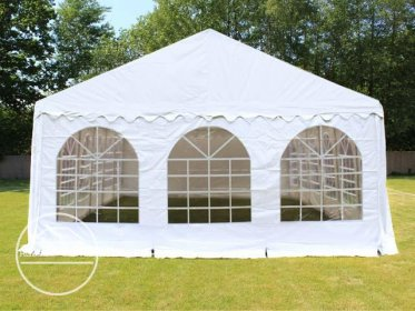 Gable End for 6m wide / 2m Side Height Marquees, with windows, white