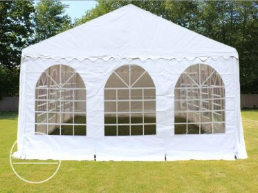 Gable End for 6m wide / 2.6m Side Height Marquees, with windows, white