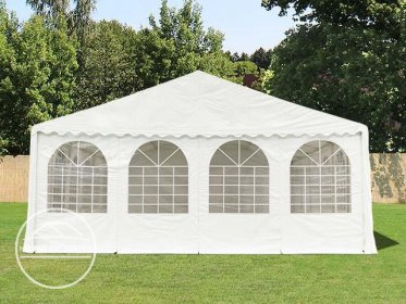 Gable End for 8m wide / 2.6m Side Height Marquees, with windows, white