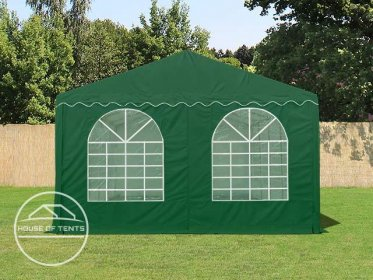 Gable End for 5m wide / 2.6m Side Height Marquees, with windows, dark green