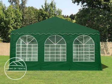 Gable End for 6m wide / 2.6m Side Height Marquees, with windows, dark green