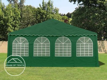 Gable End for 8m wide / 2.6m Side Height Marquees, with windows, dark green