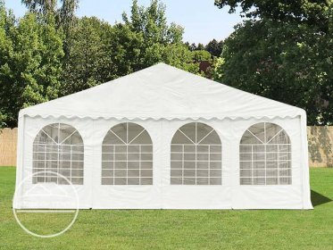 Gable End for 8m wide / 2m Side Height Marquees, with windows, white