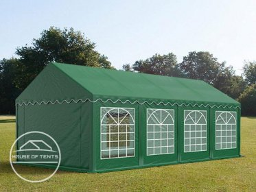 4x8m Marquee / Party Tent, PVC 500 g/m², dark green