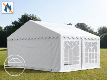 5x5m Marquee / Party Tent, PVC 500 g/m² fire resistant, white