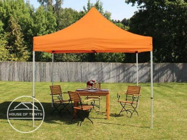 3x3m PES PopUp Gazebo / Canopy PREMIUM Steel, orange