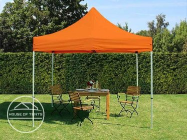 3x3m PES PopUp Gazebo PREMIUM Aluminium 36 mm, orange