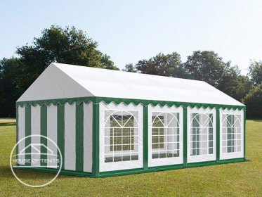 4x8m Marquee / Party Tent, PVC 500 g/m², green-white