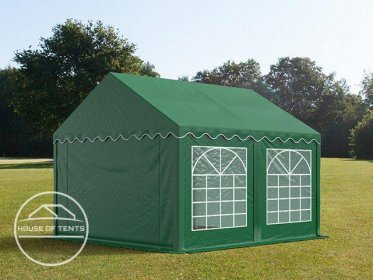 3x4m Marquee / Party Tent, PVC 500 g/m², dark green