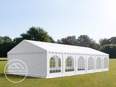 6x12m Marquee / Party Tent w. Groundbar, PVC 500 g/m², white