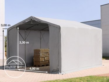6x6m - 3.0m Sides PVC Industrial Tent with zipper entrance, PVC 550 g/m²