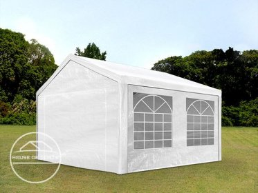3x4m Marquee / Party Tent, PE 180 g/m², white