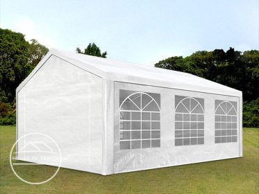 4x6m Marquee / Party Tent, PE 180 g/m², white