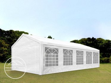 4x10m Marquee / Party Tent, PE 180 g/m², white