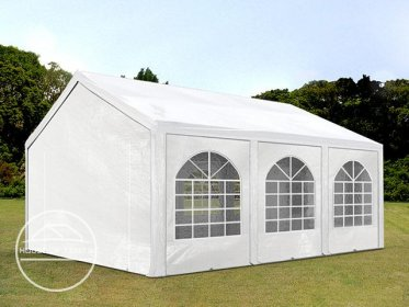 4x6m Marquee / Party Tent, PE 240 g/m², white