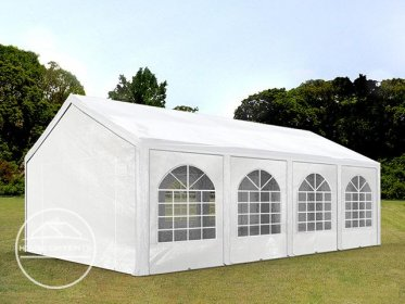 4x8m Marquee / Party Tent, PE 240 g/m², white