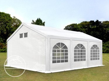 4x6m Marquee / Party Tent, PE 300 g/m², white