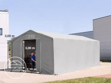 5x10m - 3.0m Sides PVC Industrial Tent with sliding door, PVC 550 g/m²