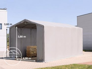5x10m - 3.6m Sides PVC Industrial Tent with zipper entrance, PVC 550 g/m²