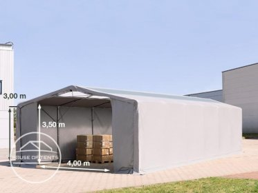 8x12m - 3.0m Sides PVC Industrial Tent with zipper entrance and skylights, PVC 550 g/m²