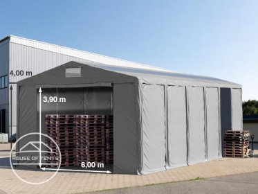 8x24m 4.0m Sides Storage Tent / Shelter w. Groundbar, zipper entrance and skylights, marquee PVC