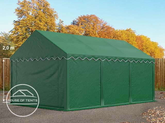 4x6m Storage Tent / Shelter, PVC 500 g/m², dark green