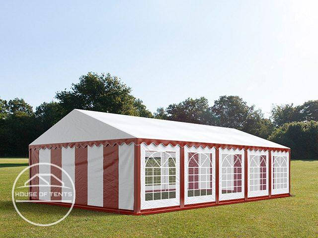 5x10m Marquee / Party Tent, PVC 500 g/m², red-white