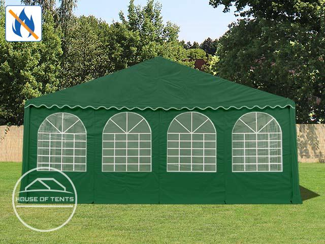 Gable End for 8m wide / 2.6m Side Height Marquees, with windows, fire resistant, dark green